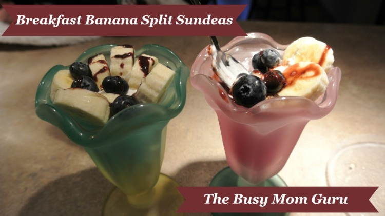 Breakfast Banana Split Sundeas